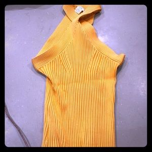 Cache ribbed stretch top